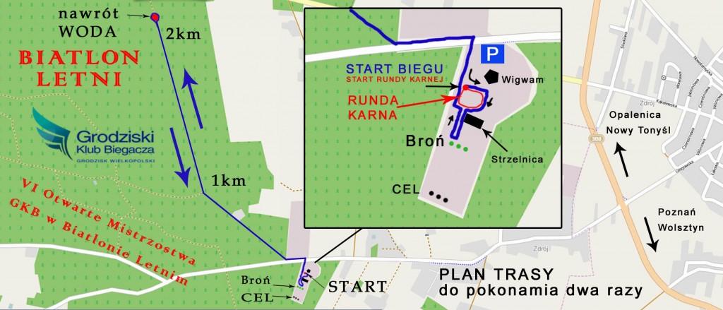 Mapa Biatlon Letni